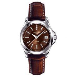 RABAT ZEGAREK CERTINA DS. PRIME ROUND C004.210.16.056.00. Czarne zegarki damskie CERTINA, ze stali. W wyprzedaży za 1254,00 zł.