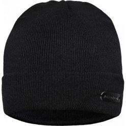 Czapka CZC0000008. Czarne czapki zimowe męskie Giacomo Conti, z aplikacjami, z materiału. Za 69,00 zł.