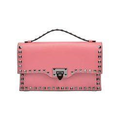 Puzderka: Skórzana kopertówka w kolorze różowym – (S)28 x (W)17 cm