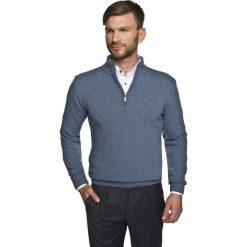 Swetry klasyczne męskie: sweter onley troyer niebieski