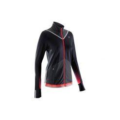 Bluza do biegania KIPRUN WARM damska. Czarne bluzy damskie marki KALENJI, z elastanu. W wyprzedaży za 99,99 zł.