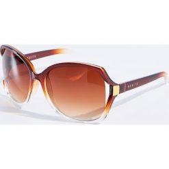 Okulary przeciwsłoneczne damskie aviatory: Okulary przeciwsłoneczne – Brązowy