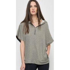 Swetry damskie: Bluza z kapturem z moltonu lurex LOUISE