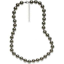 Naszyjniki damskie: Naszyjnik z pereł w kolorze oliwkowym – dł. 43 cm