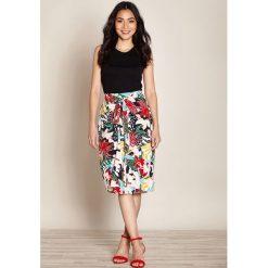 Spódniczki: Kopertowa spódnica w kwiaty