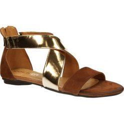 SANDAŁY CARINII E1966-A28. Brązowe sandały damskie marki Casu. Za 159,99 zł.