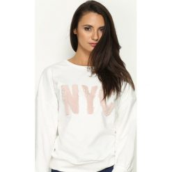 Bluzy damskie: Biała Bluza NoYoCo