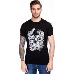 T-shirt ADAMO TSCS000033. Niebieskie t-shirty męskie z nadrukiem marki Giacomo Conti, m, z tkaniny, klasyczne. Za 99,00 zł.