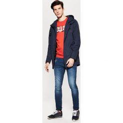 Płaszcze przejściowe męskie: Płaszcz o sportowym kroju z kapturem - Granatowy