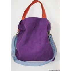 Torba hobo XXL - fiolet,pomarańcz,szaroniebieski. Niebieskie torebki klasyczne damskie Pakamera, z syntetyku. Za 129,00 zł.