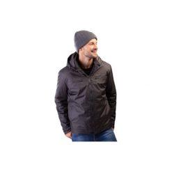 Kurtka męska zimowa gładka z kieszeniami, z kapturem. Szare kurtki męskie zimowe marki TXM, z dresówki. Za 49,99 zł.