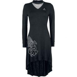 Harry Potter Forbidden Forest - Thestral Sukienka czarny. Czarne długie sukienki Harry Potter, na imprezę, l, z aplikacjami, z materiału, z dekoltem na plecach, z długim rękawem. Za 199,90 zł.