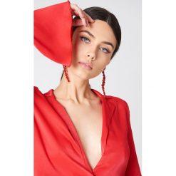 Kolczyki damskie: NA-KD Party Długie wiszące kolczyki – Red