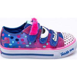 Skechers - Tenisówki dziecięce. Szare buty sportowe dziewczęce marki Skechers, z materiału. Za 239,90 zł.