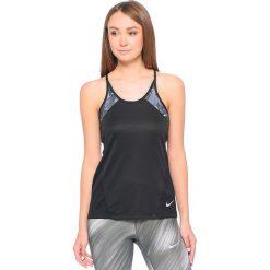 Nike Koszulka damska W Dry Miler Tank PR czarna r. L (854935 010). Czarne topy sportowe damskie Nike, l. Za 98,38 zł.