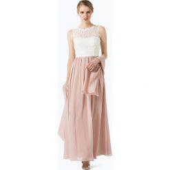 Długie sukienki: Unique - Damska sukienka wieczorowa z etolą, beżowy