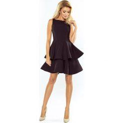 MAGDA Sukienka rozkloszowana - CZARNA. Czarne sukienki na komunię marki numoco, na studniówkę, s, z materiału, rozkloszowane. Za 239,99 zł.