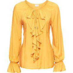 Bluzki damskie: Bluzka z falbaną bonprix żółty curry