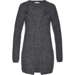 Sweter rozpinany bonprix antracytowy melanż - srebrny. Szare kardigany damskie marki bonprix. Za 49,99 zł.