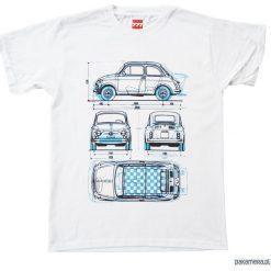 Koszulka FIAT 500 OLD & ABARTH tshirt. Czarne t-shirty męskie marki Pakamera, m, z kapturem. Za 77,00 zł.