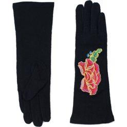 Rękawiczki damskie: Art of Polo Rękawiczki damskie długie So elegant czarno czerwone