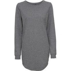 Bluza dresowa bonprix szary melanż. Szare bluzy damskie bonprix, melanż, z dresówki. Za 59,99 zł.