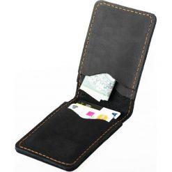 Cienki portfel ze skóry naturalnej BRODRENE czarny. Czarne portfele męskie marki Brødrene, ze skóry. Za 84,90 zł.