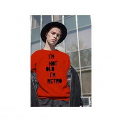 Czerwona męska bluza raglan i'm not old. Czerwone bluzy dresowe męskie One mug a day, m, z nadrukiem. Za 129,00 zł.