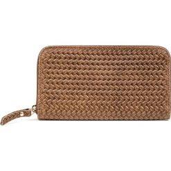 """Portfele damskie: Skórzany portfel """"All"""" w kolorze szarobrązowym – 19 x 11 x 2 cm"""