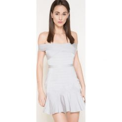 Missguided - Sukienka. Szare sukienki mini marki Missguided, na co dzień, s, z elastanu, casualowe, dopasowane. W wyprzedaży za 119,90 zł.