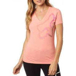 FOX T-Shirt Damski Perfor Vneck Xs Łososiowy. Czerwone t-shirty damskie FOX, xs. W wyprzedaży za 60,00 zł.