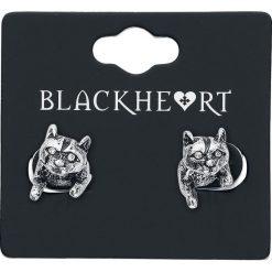 Kolczyki damskie: Blackheart Cat Kolczyki – Earpin srebrny