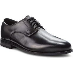 Półbuty CLARKS - Ellis Leon 261291357 Black Leather. Czarne półbuty skórzane męskie Clarks. W wyprzedaży za 439,00 zł.