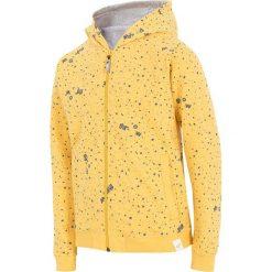 Bluza dla dużych chłopców JBLM201 - ŻÓŁTY. Żółte bluzy dziewczęce rozpinane 4F JUNIOR, na lato, z bawełny. Za 59,99 zł.