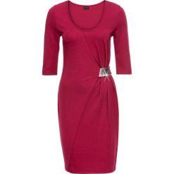 Sukienki: Sukienka z dżerseju z aplikacją bonprix różowo-srebrny