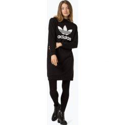 Adidas Originals - Sukienka damska, czarny. Szare sukienki dresowe marki adidas Originals, na co dzień, z nadrukiem, casualowe, z okrągłym kołnierzem, proste. Za 229,95 zł.