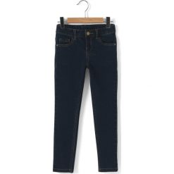 Jeansy slim 3-12 lat. Niebieskie jeansy dziewczęce La Redoute Collections, z bawełny, z standardowym stanem. Za 70,52 zł.