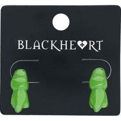 Kolczyki damskie: Blackheart Biting Dinosaur Kolczyki - Earpin zielony