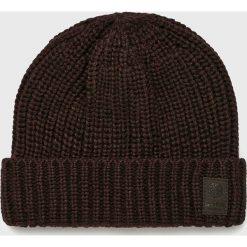 Only & Sons - Czapka Emile. Brązowe czapki zimowe męskie Only & Sons, z dzianiny. W wyprzedaży za 39,90 zł.