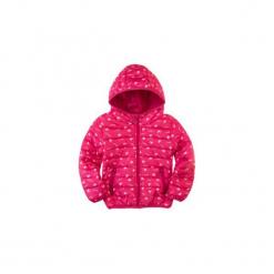 Kurtka dziewczęca przejściowa z przeszyciami, z kieszeniami, z kapturem, rozpinana. Różowe kurtki dziewczęce przejściowe TXM, z kapturem. Za 49,99 zł.