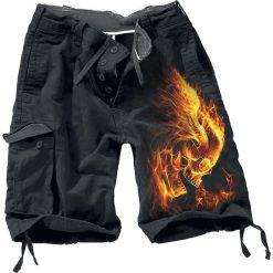 Spiral Burn In Hell Krótkie spodenki Vintage czarny. Czarne spodenki i szorty męskie marki Spiral, vintage. Za 121,90 zł.
