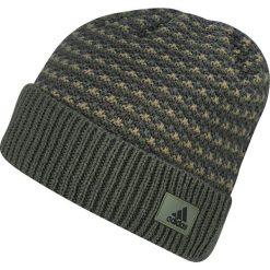 Czapki męskie: Adidas Czapka męska Climaheat Striped Knit Woolie OSFM khaki (AY4916)