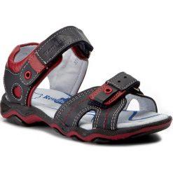 Sandały RENBUT - 21-3258-0112-26 Granat. Niebieskie sandały męskie skórzane marki RenBut. W wyprzedaży za 149,00 zł.