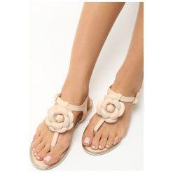 Beżowe Sandały Tangle. Brązowe sandały damskie marki NEWFEEL, z gumy. Za 39,99 zł.