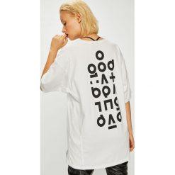Answear - Top Manifest your style Good At Being Bad. Szare topy damskie ANSWEAR, l, z nadrukiem, z bawełny, z okrągłym kołnierzem. W wyprzedaży za 49,90 zł.