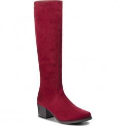 Kozaki CAPRICE - 9-25506-21 Bordeaux Stre. 544. Czerwone buty zimowe damskie Caprice, z materiału, przed kolano, na wysokim obcasie, na obcasie. W wyprzedaży za 199,00 zł.