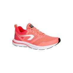 Buty do biegania RUN ACTIVE damskie. Niebieskie buty do biegania damskie marki DOMYOS, z materiału, małe. W wyprzedaży za 79,99 zł.