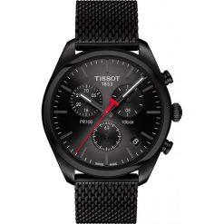 PROMOCJA ZEGAREK TISSOT PR 100 Chronograph T101.417.33.051.00. Czarne zegarki męskie TISSOT, ze stali. W wyprzedaży za 1716,00 zł.