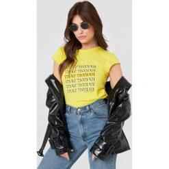 NA-KD T-shirt That Woman - Yellow. Żółte t-shirty damskie NA-KD, z nadrukiem. Za 72,95 zł.