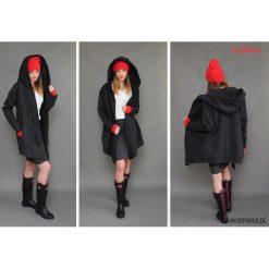 Bluza Coat długa czarna. Szare bluzy rozpinane damskie Pakamera, l, z długim rękawem, długie. Za 259,00 zł.